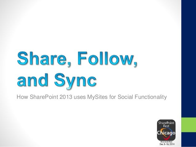How SharePoint 2013 uses MySites for Social Functionality