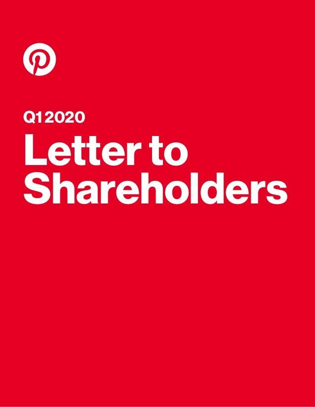Q1 2020 Letter to Shareholders