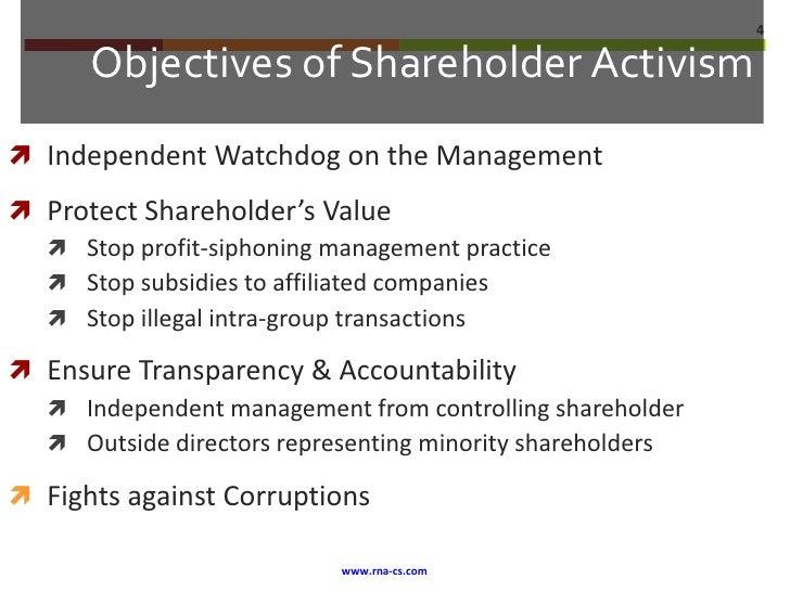 Shareholder Activist