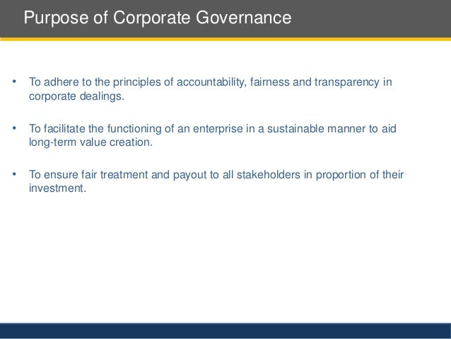 The comparison of corporate governance practices in indian essay