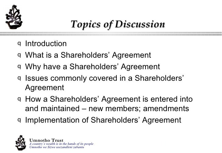 Shareholders agreements shareholders agreements presentation by dirk kemp 2 platinumwayz