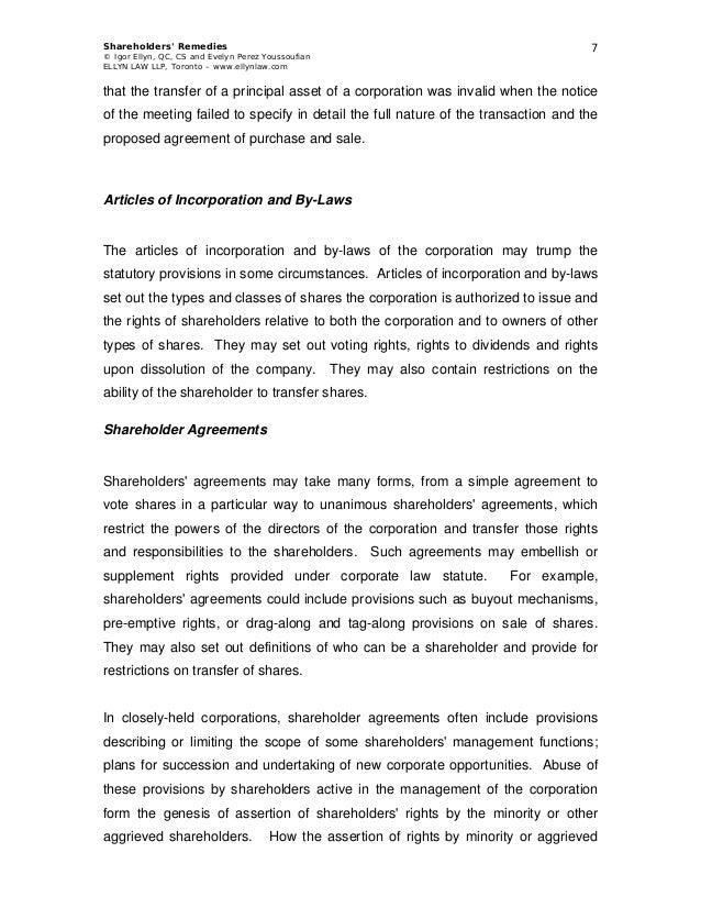 Sample Shareholder Agreement Closely Held Corporation Akbaeenw