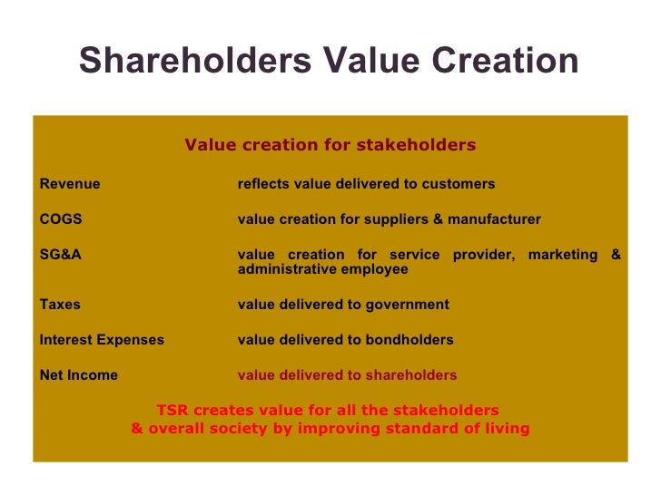 essay shareholder value