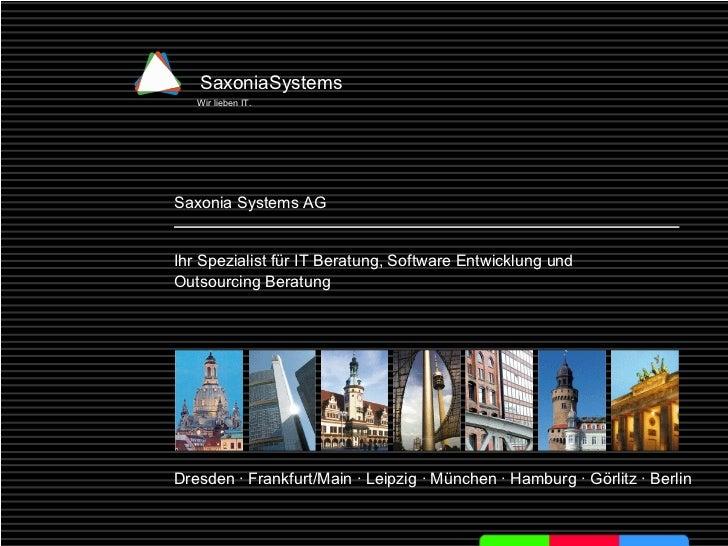 Einführung in die Java-Webentwicklung Dresden · Frankfurt/Main · Leipzig · München · Hamburg · Görlitz · Berlin Saxonia Sy...