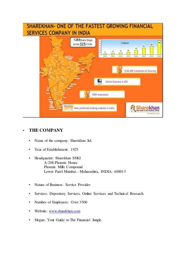 Sharekhan Mutual fund report by Pawan Saini MBA Finance