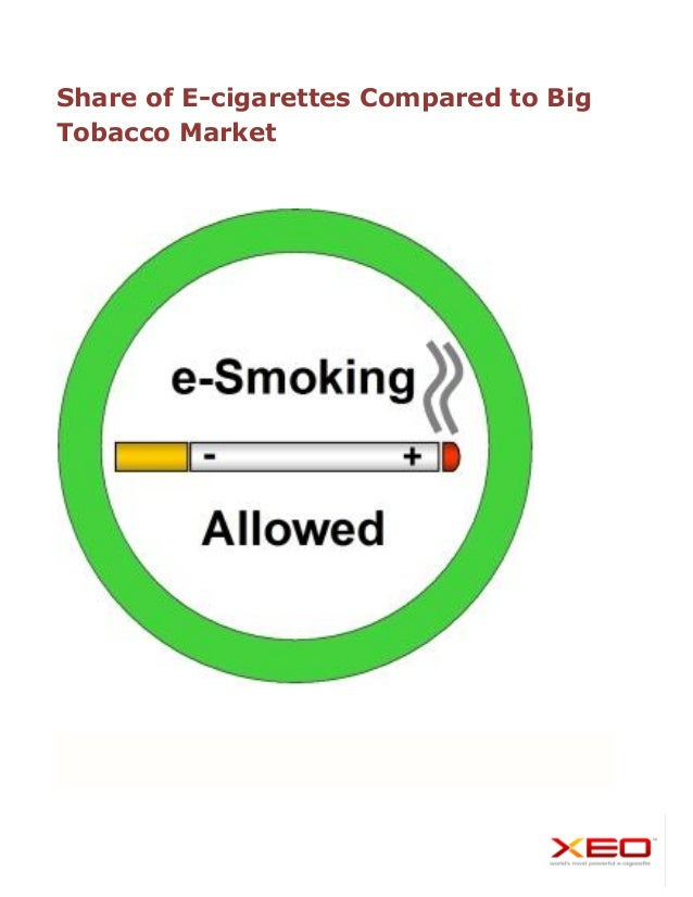Share of E-cigarettes Compared to Big Tobacco Market