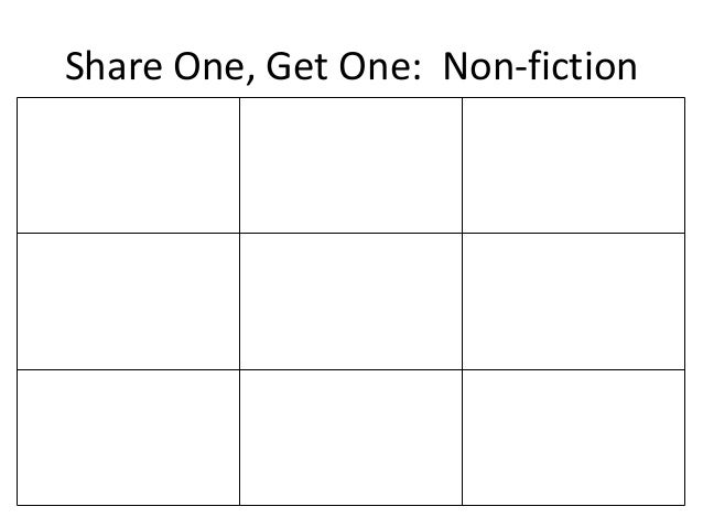 Share One, Get One: Non-fiction