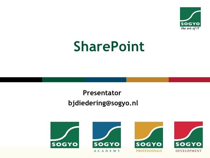 SharePoint Presentator  [email_address]