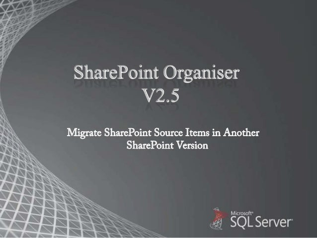 Attributes of SharePoint Migration Quickly Migrate bulk SharePoint offline or Online database in other SharePointor Offic...