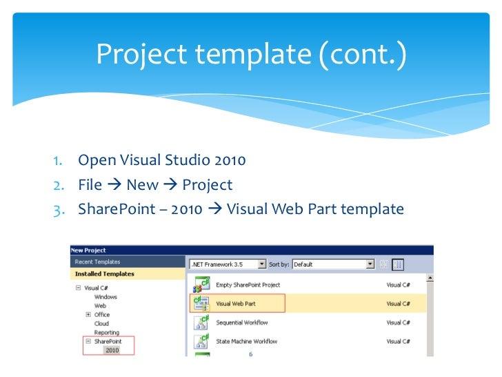 SharePoint 2010 Visual Web Part