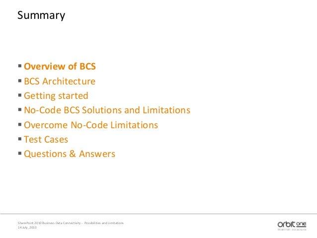 SharePoint 2010 BCS Slide 2