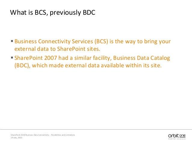 SharePoint 2010 BCS Slide 3