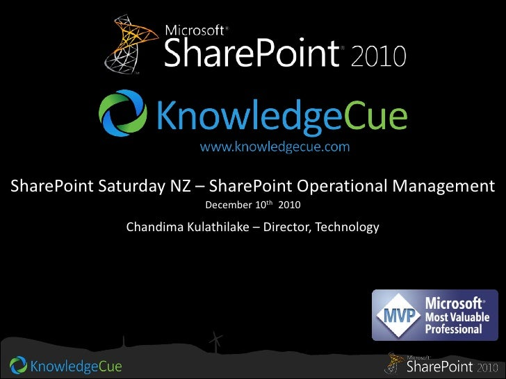 SharePoint 2010 Operational Management   sp-saturday nz