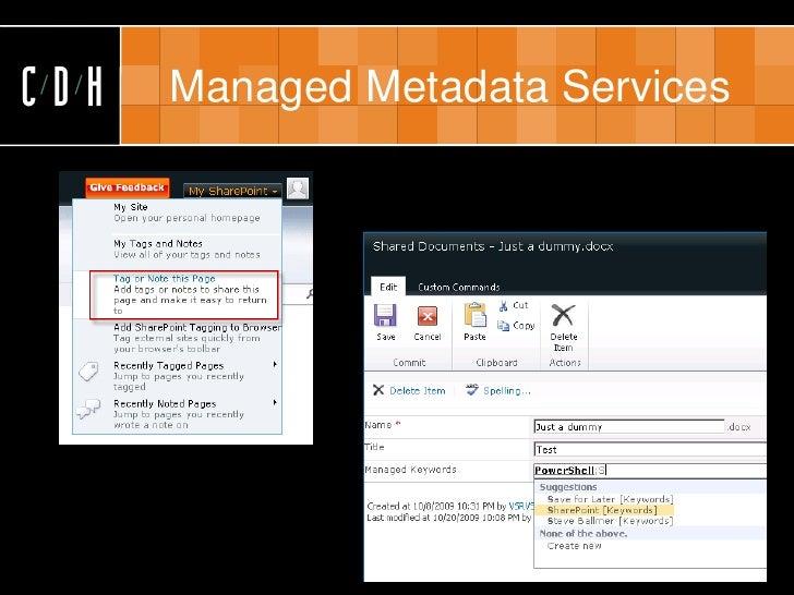 CDH   Managed Metadata Services