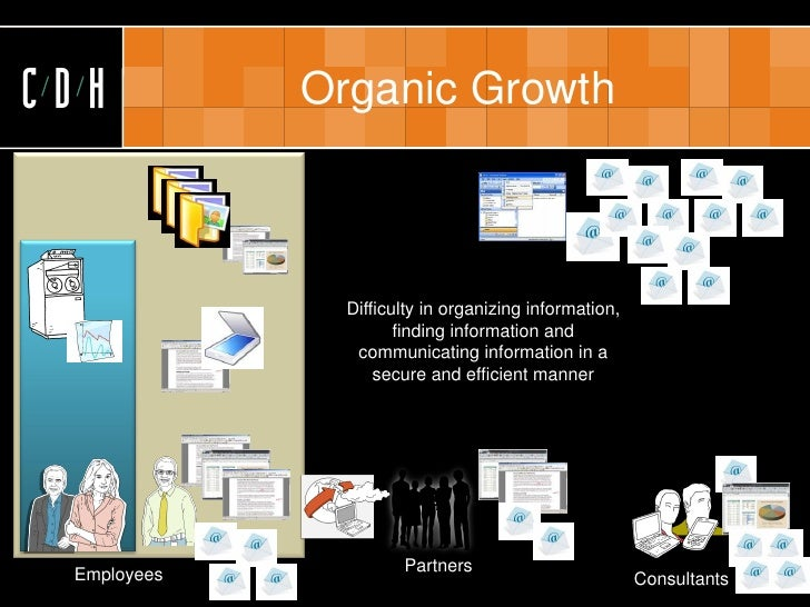 CDH          Organic Growth                   Difficulty in organizing information,                       finding informat...