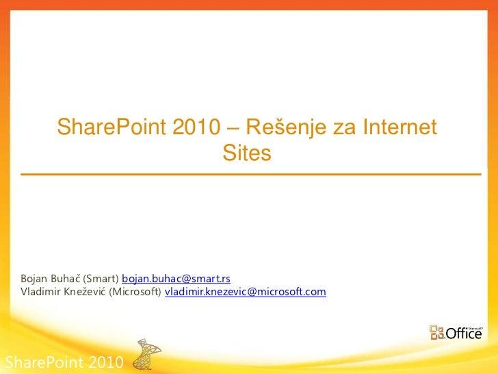 SharePoint 2010 – rešenje za internet sajtove