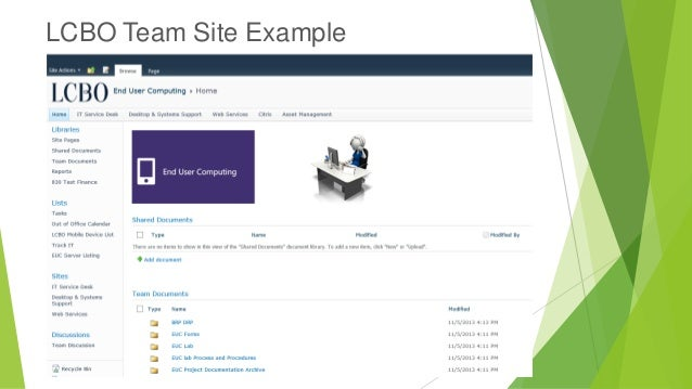 SharePoint 2010 Team Site Overview