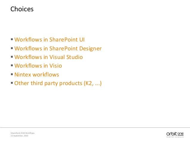 SharePoint 2010 workflows: Nintex Slide 3