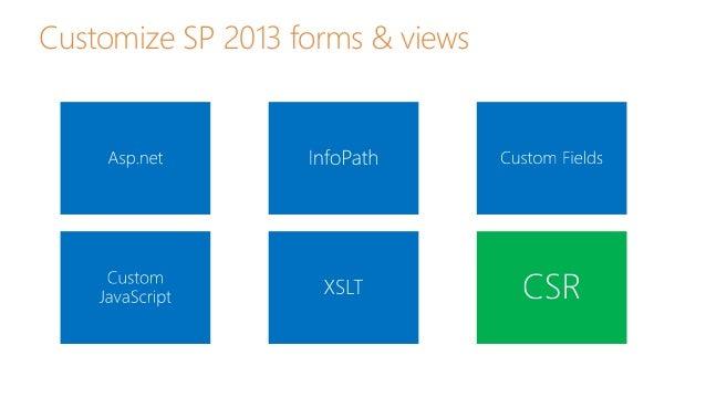 Sharepoint 2013 Client Side Rendering Csr Amp Jslink Templates