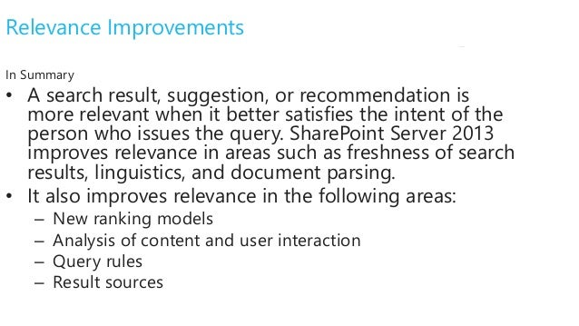 sharepoint 2013 search improvements