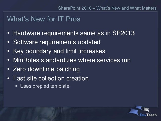 sharepoint requirements template - sharepoint 2016 what s new and what matters