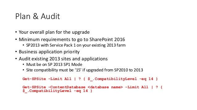 SharePoint 2016 Upgrade Planning