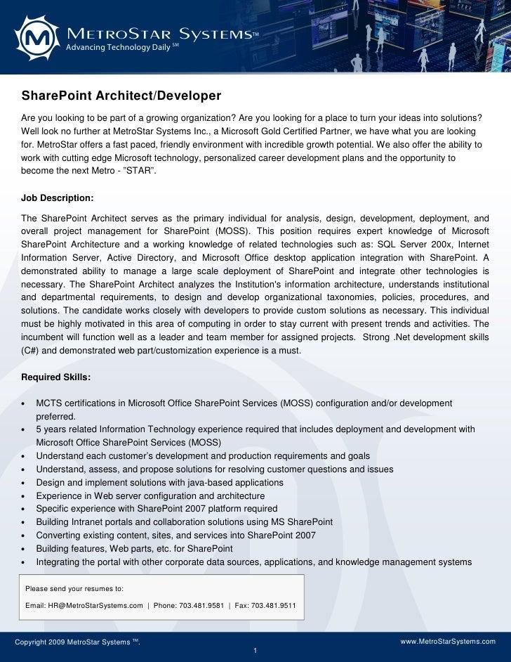 sharepoint architect resume doc 28 images sharepoint architect