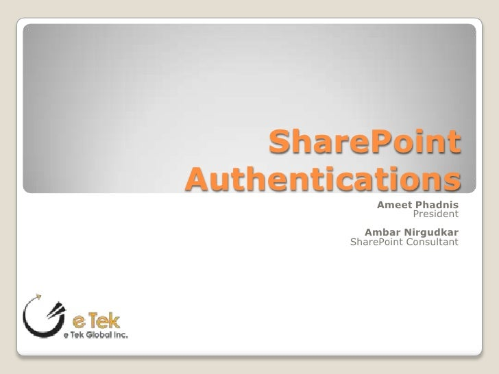 SharePoint 2010 authentications