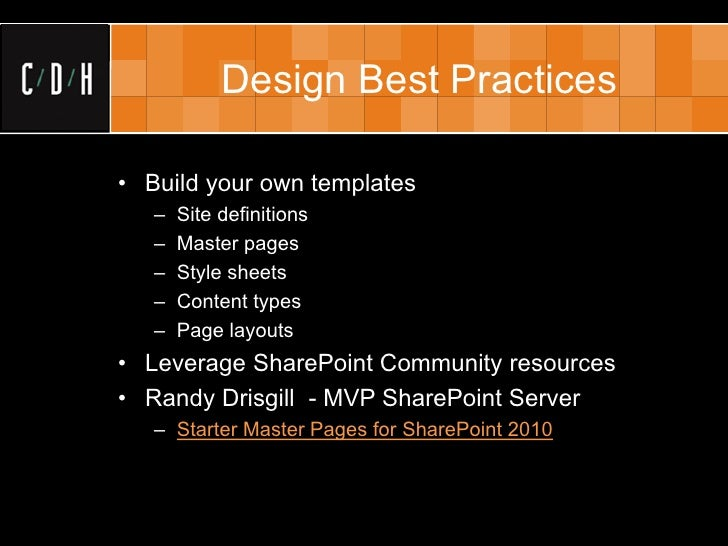 best practices for sharepoint public websites