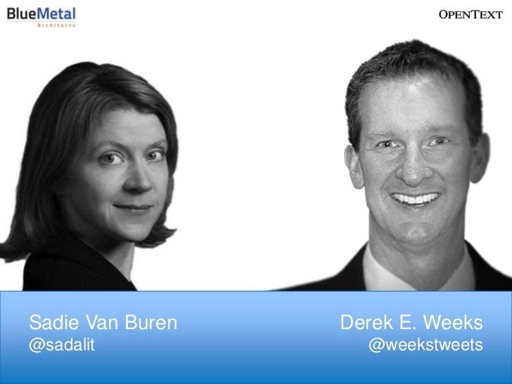 Sadie Van Buren   Derek E. Weeks@sadalit            @weekstweets                                             1            ...