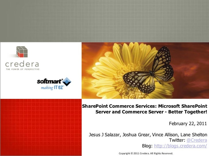 THE POW ER OF P ERSPECTIVE                             SharePoint Commerce Services: Microsoft SharePoint                 ...