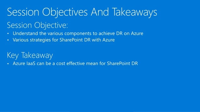 SharePoint Disaster Recovery in Microsoft Azure Slide 3