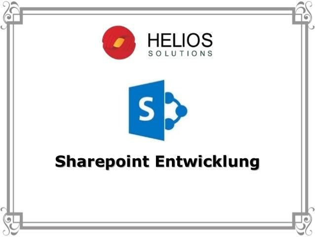 Sharepoint Entwicklung