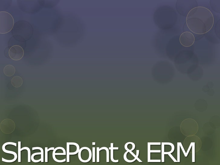SharePoint & ERM