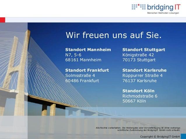 Copyright © BridgingIT GmbH Alle Rechte vorbehalten. Die Weitergabe oder Vervielfältigung ist ohne vorherige schriftliche ...