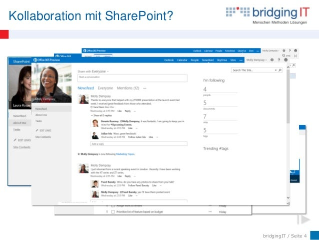 bridgingIT / Seite 4 Kollaboration mit SharePoint?