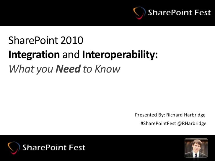 SharePoint 2010Integration and Interoperability:What you Need to Know<br />Presented By: Richard Harbridge<br />#SharePoin...