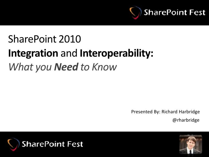 SharePoint 2010Integration and Interoperability:What you Need to Know<br />Presented By: Richard Harbridge<br />@rharbridg...