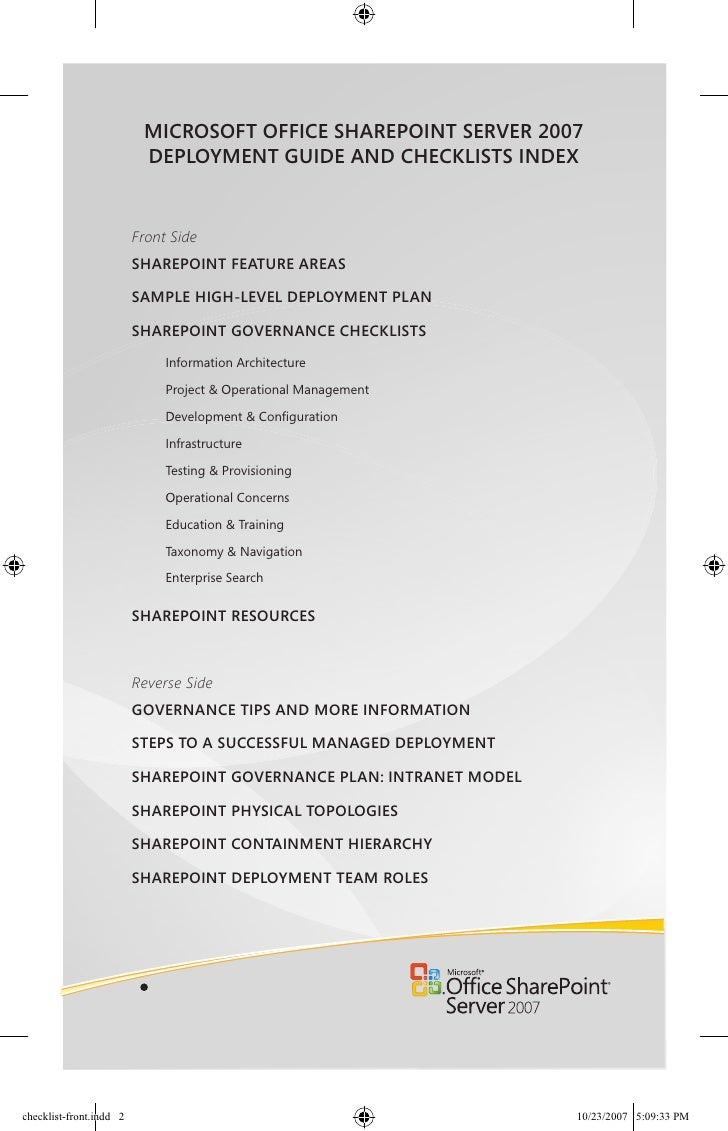 Sharepoint governance for Sharepoint implementation plan template