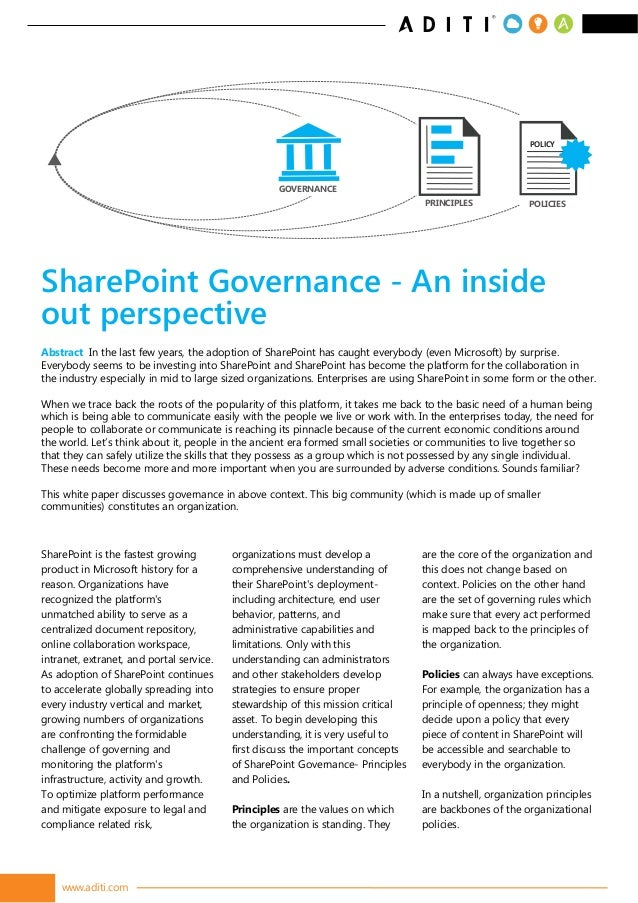 www.aditi.com SharePoint is the fastest growing product in Microsoft history for a reason. Organizations have recognized t...