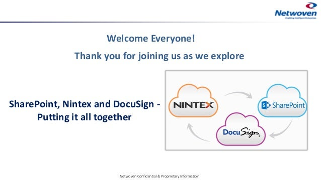 Thank you for joining us as we explore Welcome Everyone! Netwoven Confidential & Proprietary Information SharePoint, Ninte...