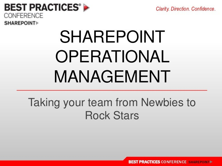 SharePoint Operations Framework - Planning and Guidance
