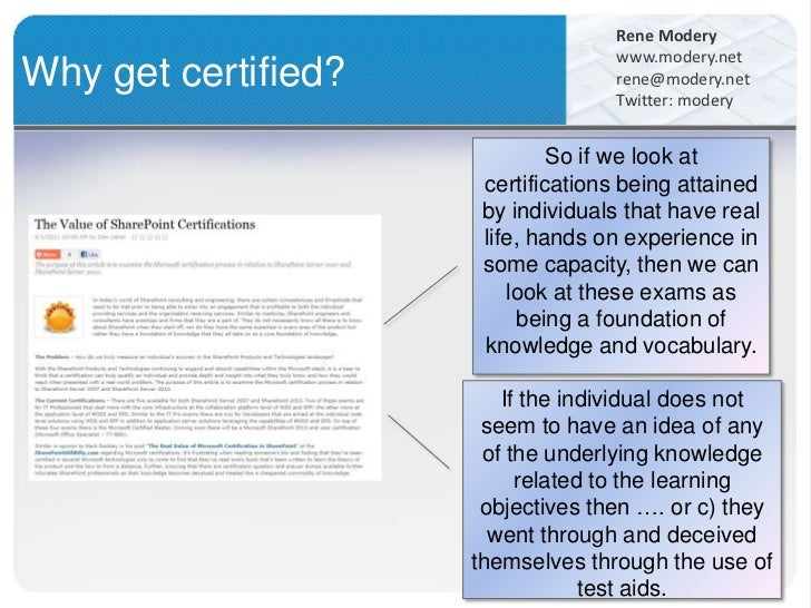 SharePoint Roles + Certifications