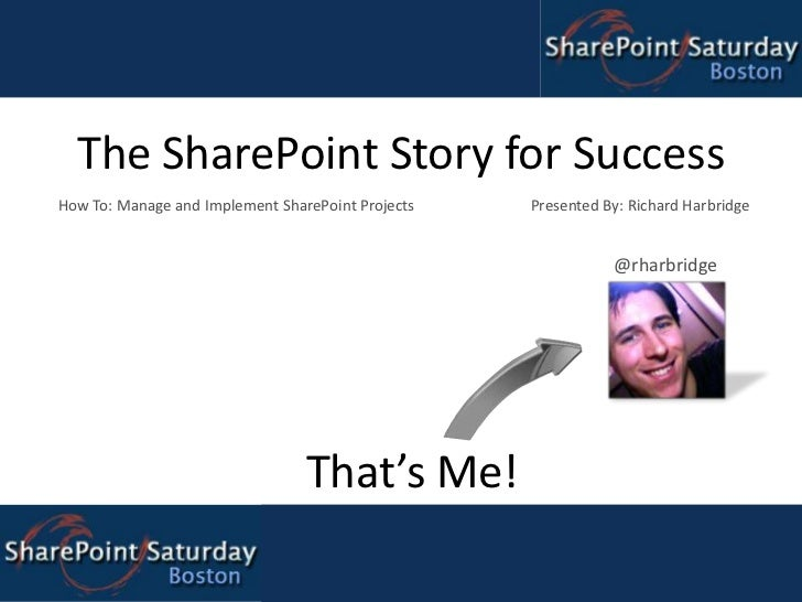 The SharePoint Story for Success<br />How To: Manage and Implement SharePoint Projects                   Presented By: Ri...