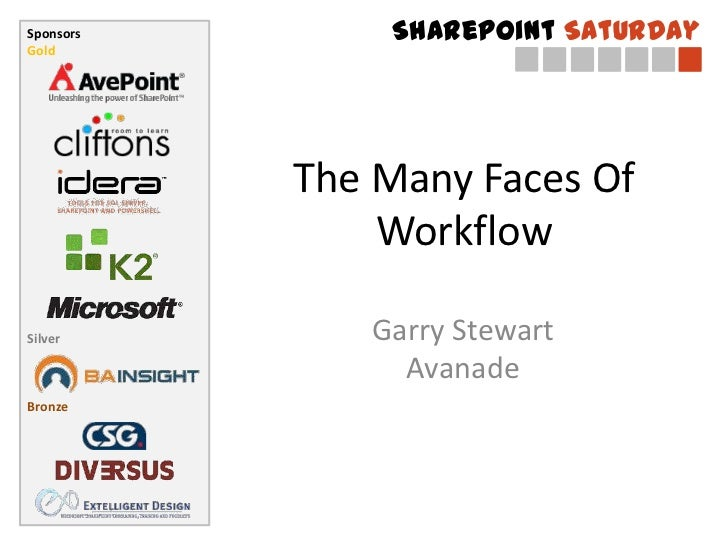 The Many Faces Of Workflow<br />Garry StewartAvanade<br />
