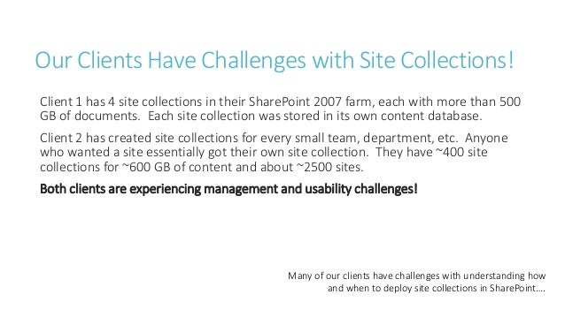 SharePoint Site Collections - Best Practices and Recommendations