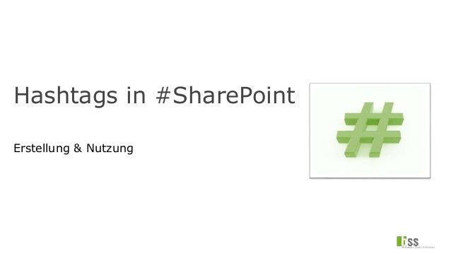 Hashtags in #SharePoint Erstellung & Nutzung