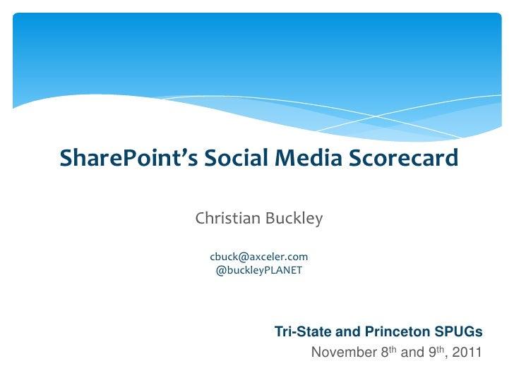 SharePoint's Social Media Scorecard                                       Christian Buckley                               ...