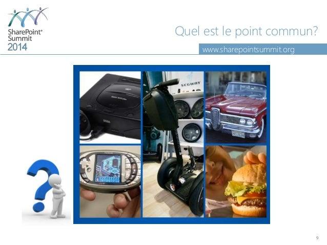 www.sharepointsummit.org Quel est le point commun? 9