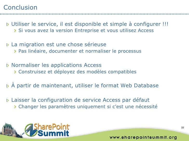 Conclusion  Utiliser le service, il est disponible et simple à configurer !!!    Si vous avez la version Entreprise et vou...